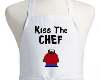Funny Apron Kiss The Chef South Park Novelty Cooking Aprons