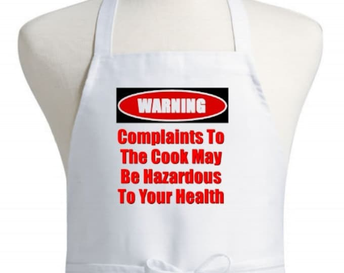 Funny Kitchen Aprons Complaints To The Cook Chef Apron