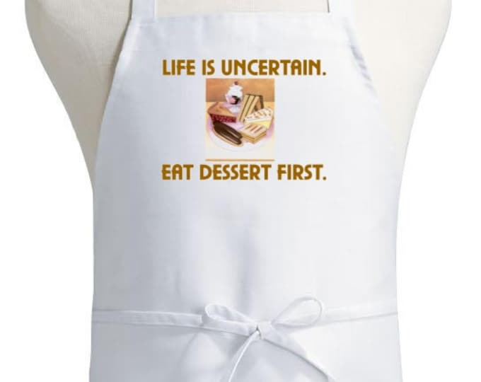Cute Kitchen Aprons Life Is Uncertain Humorous Chef Apron