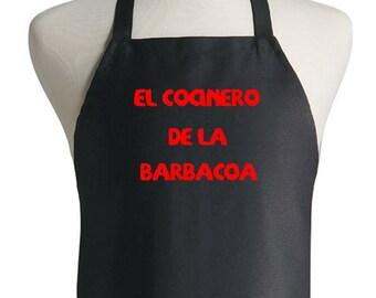 Spanish BBQ Apron El Cocinero De La Barbacoa Latino Grilling Aprons