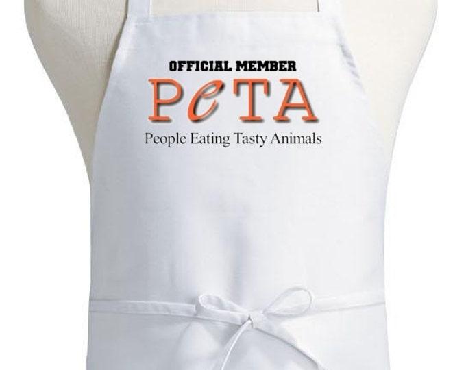 Funny Aprons Official Member PETA Humorous Cooking Apron