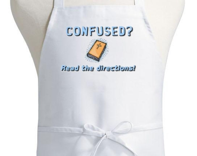 Evangelical Apron Read The Directions White Kitchen Aprons