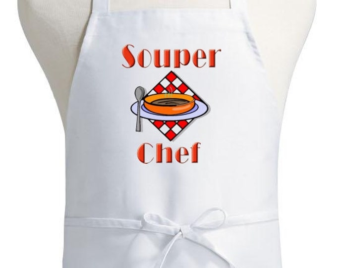 Funny Cooking Apron Souper Chef Aprons With Attitude