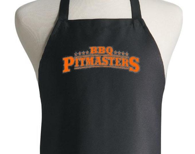 BBQ Pitmasters Black Grilling Apron Barbecue Apron Gift Idea