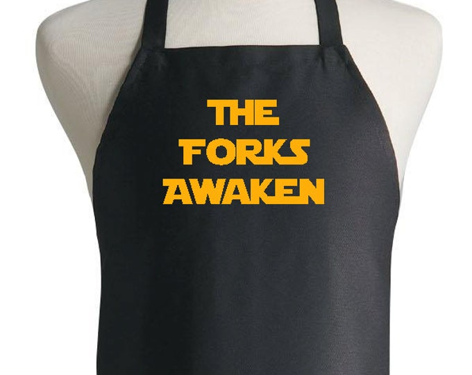 Star Wars Cooking Apron The Forks Awaken Funny Chef Kitchen Apron