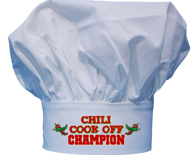 Chili Cook Off Champion Chef Hat, White Toques, One Size Fits All