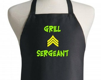 Apron and Chef Hat Set Grill Sergeant Novelty Gift Ideas