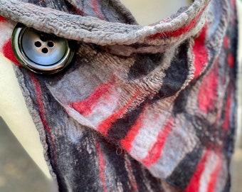 Nuno felted scarf, Nuno scarf, wool felted scarf, felted wool scarf, wool scarf, merino wool scarf, winter accessories