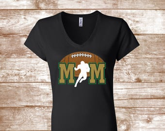48590ee4bb Football Mom Shirt - Mom Shirt - Sports Mom - Team Shirt - Custom -  Football Player - Graphic Tee - Ladies Clothing - Plus Size Available