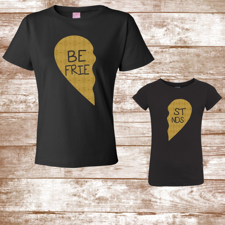 2113cc88 Valentine's Day Shirts Best Friends Gold Glitter Heart | Etsy