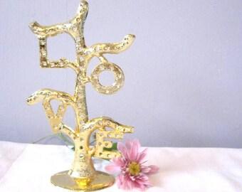 Torino Earring holder LOVE Earring Holder VINTAGE Torino Metal Tree a Beautiful Love earring holder  for your dressing table