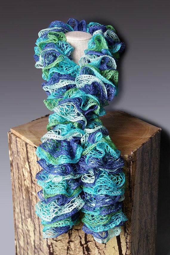 PDF PATTERN FILE Crocheted Ruffle Scarf Pattern Etsy