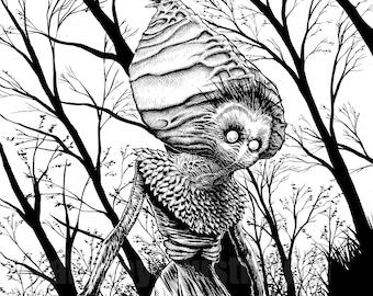 Flatwoods Monster 11x17 Signed Print Horror Artwork