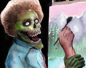 Bob Zombie 11x17 Art, SIGNED Horror Parody Poster Print