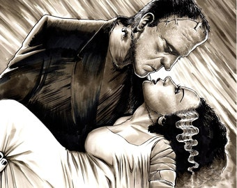 Bride of Frankenstein  Gone With the Wind SIGNED 11x17 print
