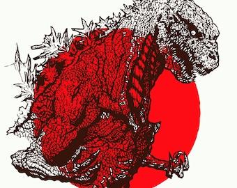 Shin Godzilla 11x17 SIGNED pop art print