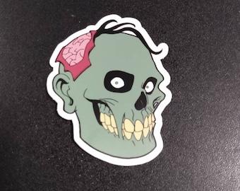 """3"""" Happy Zombie Vinyl Sticker"""