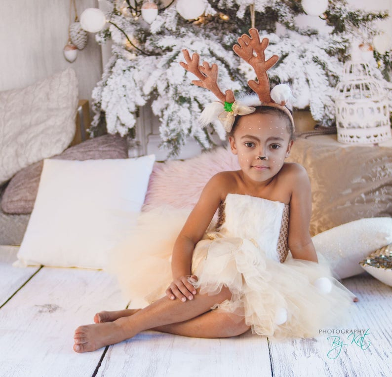 pageant or play Winter wonderland Winter onderland Birthday Costume Winter Snow Christmas Reindeer Tutu Dress The Nutcracker