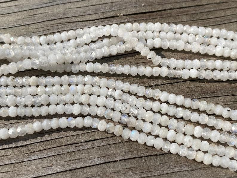 1-15 Strand 3mm Genuine Natural Rainbow Moonstone Beads High Grade