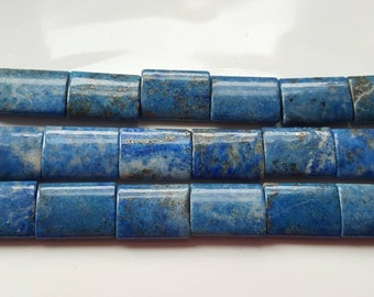"1-16"" Strand Large Natural Genuine  Denim Blue Lapis Smooth Chicklet Rectangles 20x15mm (20 Beads)"