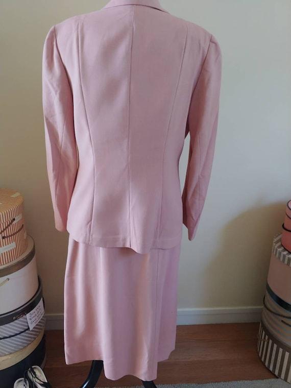 Vintage 1940s/1950s suit, pink linen, summer suit… - image 4