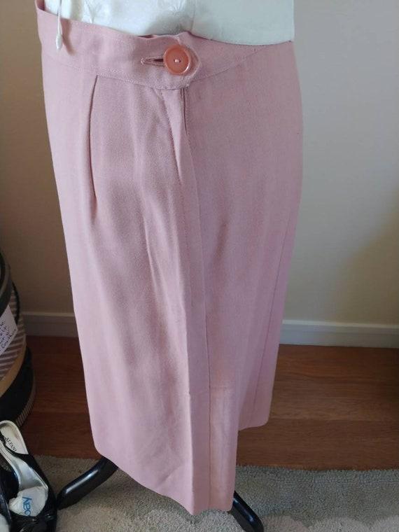 Vintage 1940s/1950s suit, pink linen, summer suit… - image 9