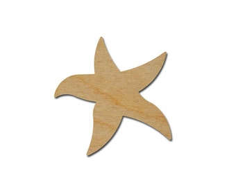 Starfish Shape Wood Craft Cut Outs Variety of Sizes Artistic Craft Supply