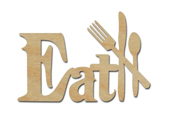 Eat kitchen Sign Unfinished Wood Paintable Stainable Crafts