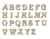 Wooden Letters MDF Unfinished Unpainted DIY Crafts 4 Inch Tall Artistic Craft Supply