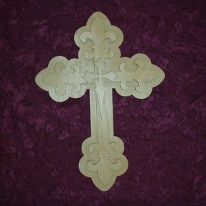 Jesus Wood Cross Layered Unfinished Wooden Craft Crosses