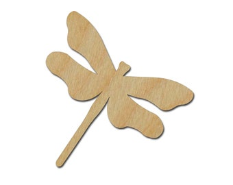 Dragonfly Shape Unfinished Wood Craft Cutouts Variety of Sizes Style #1 Artistic Craft Supply
