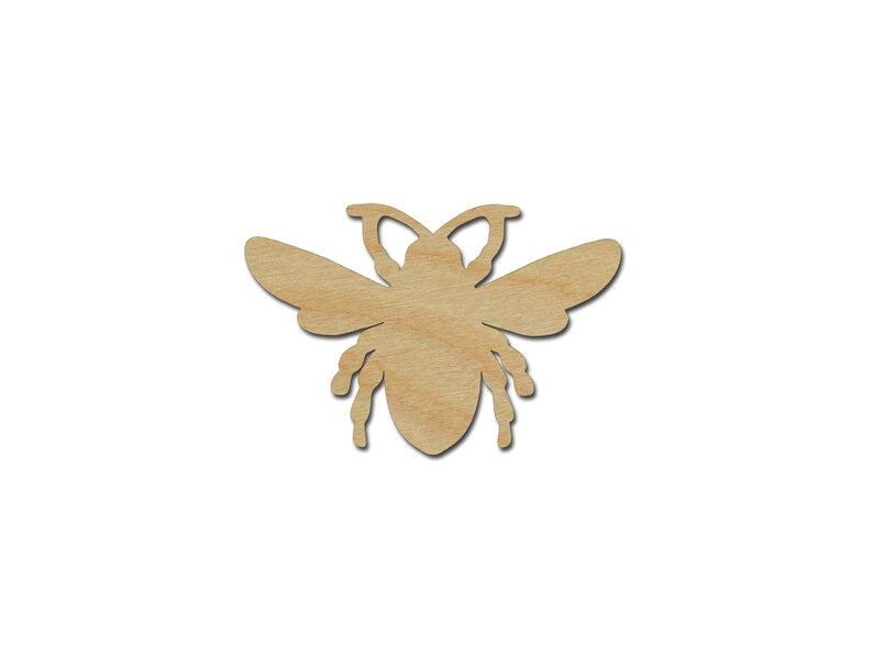 Bee Shape Unfinished Wood Craft Cutouts Variety of Sizes Style #03 Artistic Craft Supply