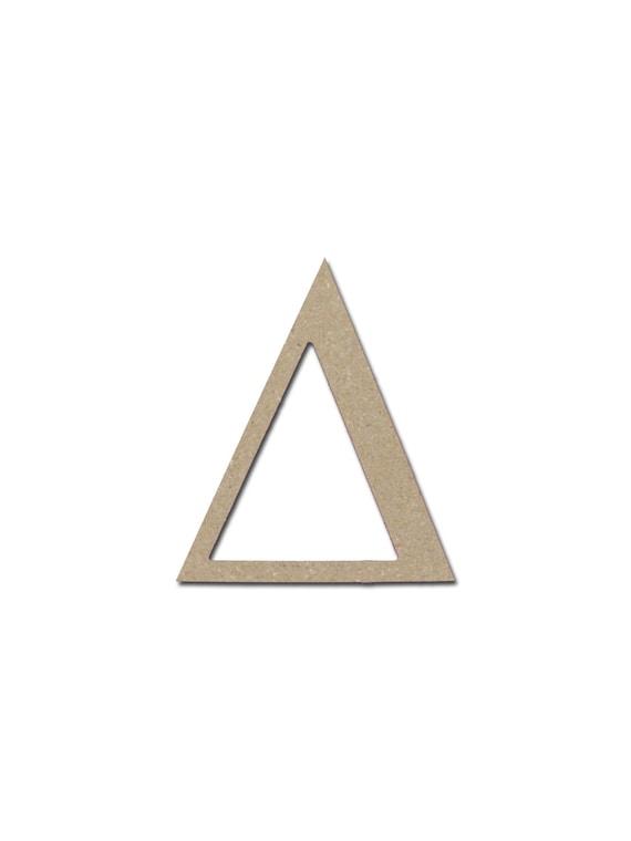 Greek Letter Delta Symbol Unfinished Wooden Mdf Letters Etsy