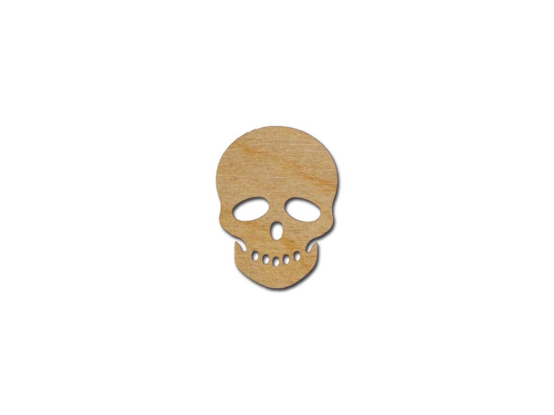 Sugar Skull Shape Variety of Sizes Unfinished Wood Craft Cutouts Artistic Craft Supply