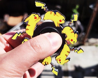 Laser Cut Pika Pika Animated Spinner (Please Read Description Before Buying)