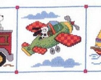 ETSY BIRTHDAY SALE Imaginating Dog Gone Travels Cross Stitch Pattern