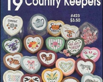 ETSY BIRTHDAY SALE One Nighters 19 Country Keepers Counted Cross Stitch Pattern
