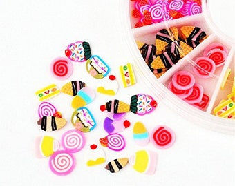 SALE FATHER'S DAY Sweets & Treats Slices Clay Cane Crafts/Nail art