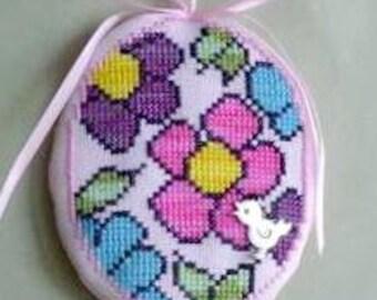 ETSY BIRTHDAY SALE Handblessings Flower Power Cross Stitch Pattern w/charm