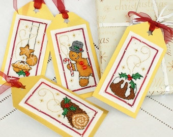 ETSY BIRTHDAY SALE Faby Reilly Christmas Gift Tags Cross Stitch Pattern