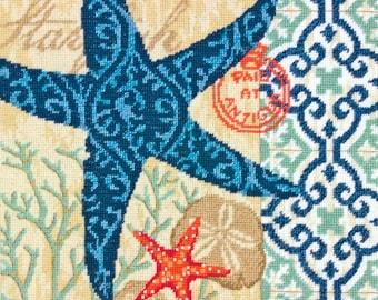 ETSY BIRTHDAY SALE Starfish Needlepoint Kit
