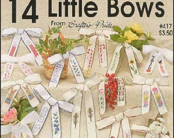 ETSY BIRTHDAY SALE One Nighters 14 Little Bows Counted Cross Stitch Pattern