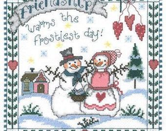 ETSY BIRTHDAY SALE Imaginating Frosty Friendship Cross Stitch Pattern