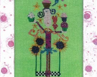 ETSY BIRTHDAY SALE Amy Bruecken Cupcake Girl Cross Stitch Pattern