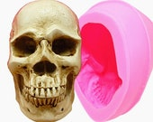 3D Skull Head Silicone Mold, Skeleton Head, fondant mold, candle mold, chocolate mold and baking tools and supplies
