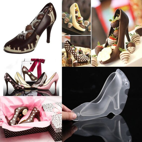3D High Heel Shoes Plastic Mold, Chocolate Mold, Candy, Cake Decoration Molds, Cake Tools, Lady Shoe Mold, Wedding Cake, Cake Decoration