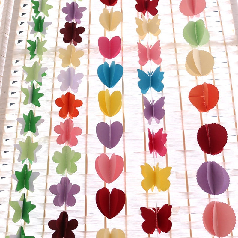 1piece Colorful Hanging Paper Garlands Flora String Wedding Party Birthday Baby Decoration Round Shape New