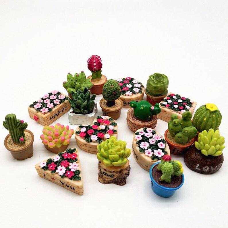 19pcs Flower Set Miniature Micro Fairy Garden Figurine Etsy