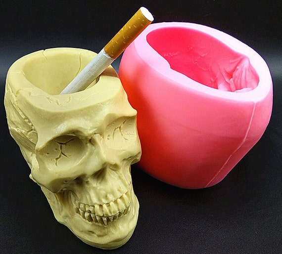 Skull Ashtray Concrete Silicone Mold Baking Mold Resin Gypsum Chocolate Candle