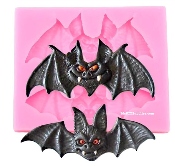 Bat Shaker Mold for Resin and Polymer Clay 7 cm Halloween